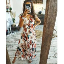 Vestido Floral Plisado