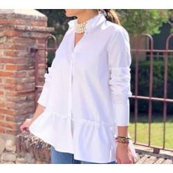 blusa blanca holy  volantes