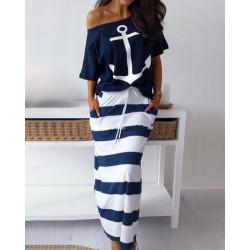 Vestido ancla marino