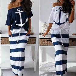 Nuevo vestido de algodón ancla