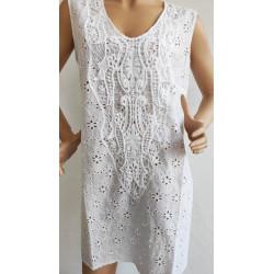 Nuevo vestido calado bordado